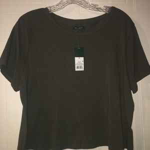 Wild fable olive green cotton top. NWT Size 1X